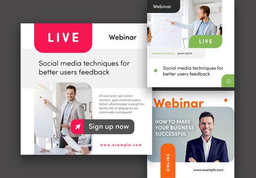 Online Webinar Social Media Post Layouts