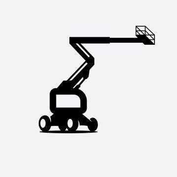 boom lift icon concept design illustration template