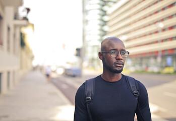 portrait of man on the street