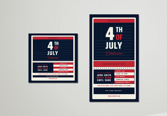 4th of July Social Media Layouts