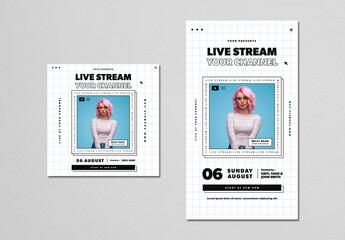 Live Stream Event Social Media Layouts