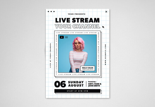 Live Stream Event Flyer Layout