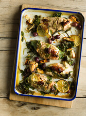 Chicken, Spinach and Feta Bake