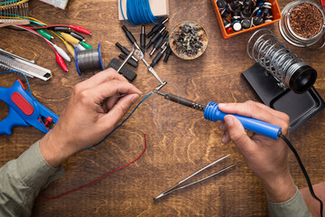 DIY electronics repair making