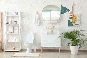 Interior of modern clean restroom