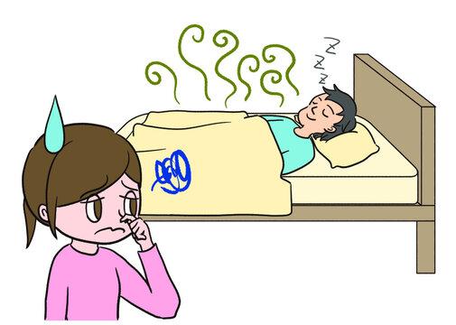 寝ている夫の匂いを気にする妻