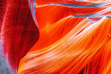 Photo sur Aluminium Brique Antelope Canyon is a slot canyon in the American Southwest.
