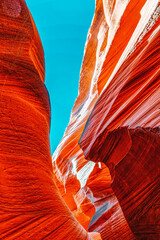 Foto auf Acrylglas Rot Antelope Canyon is a slot canyon in the American Southwest.