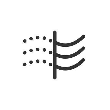 Air filter icon. Vector