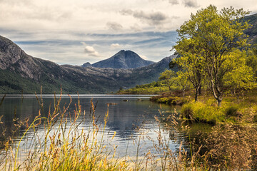 Myrdalsvatnet, Norway, beautiful lake in the mountains