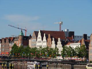 Printed roller blinds New York Die Hansestadt Lübeck an der Ostsee