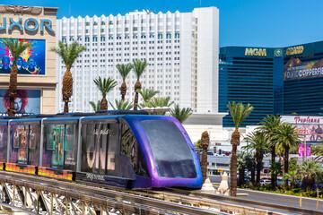 Monorail train in Las Vegas
