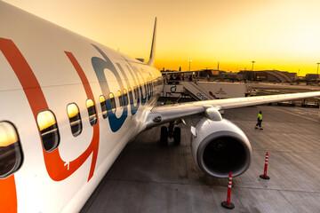 Airplane Flydubai Boeing 737-800