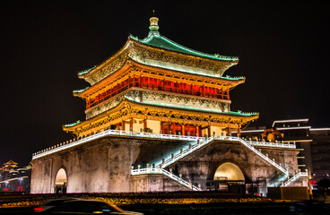 Xian Bell Tower in China Fototapete