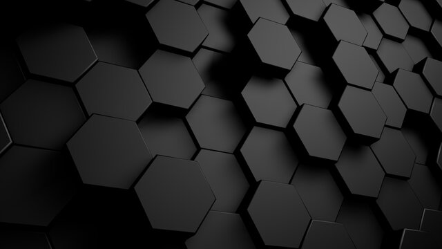 Abstract geometric hexagonal background. Grunge surface, 3d rendering Embossed Hexagon , honeycomb white Background ,light and shadow