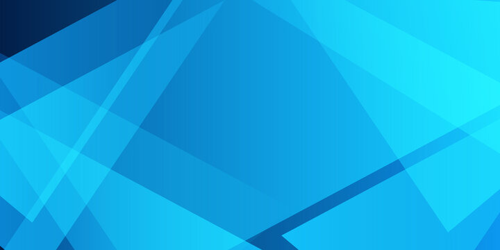 abstract blue background with triangles and rectangle shapes layered in contemporary modern art design