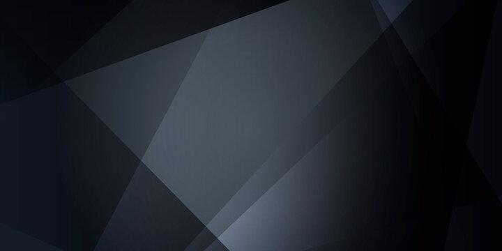 Dark black triangle abstract polygonal presentation background. Vector illustration design for presentation, banner, cover, web, flyer, card, poster, wallpaper, texture, slide, magazine, and ppt