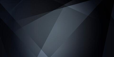 Dark abstract polygonal background.