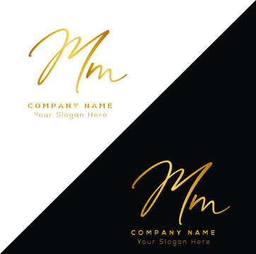M M MM Initial letter handwriting and signature logo.