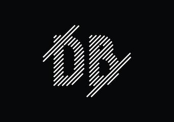 Obraz Initial Monogram Letter D B Logo Design Vector Template. D B Letter Logo Design - fototapety do salonu