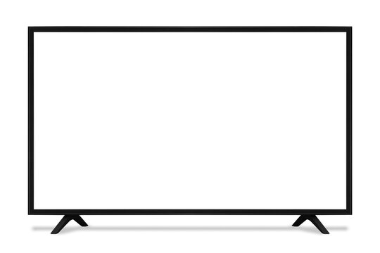 blank screen uhd smart tv monitor isolated on white