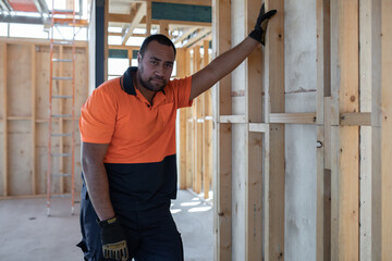 Tradie at work on construction site