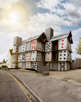 House of cards in a village