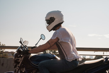 Anonymous Man Riding Motorcycle