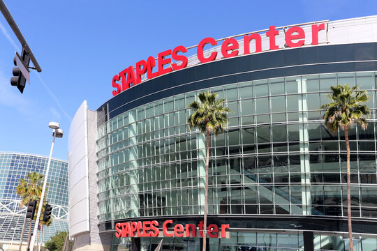 Los Angeles, California, USA - March 17, 2014: The Staples Center in Los Angeles, California. The Staples Center is a multipurpose sports and event arena.