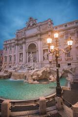 Aluminium Prints Rome trevi fountain rome italy
