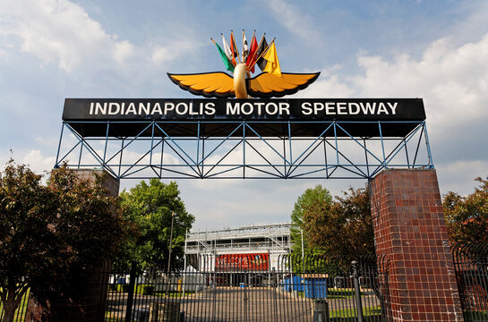 Indianapolis, Indiana, USA - June 5, 2013: An entrance to the Indianapolis Motor Speedway in Indianapolis, Indiana, on June 5, 2013. The racetrack is home to the Indianapolis 500.
