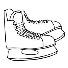 Vector image of ice skates