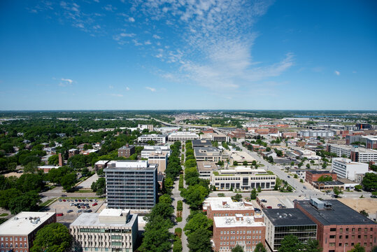 Aerial View of Lincoln, Nebraska
