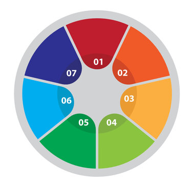 Seven Step Circular Process Infographic