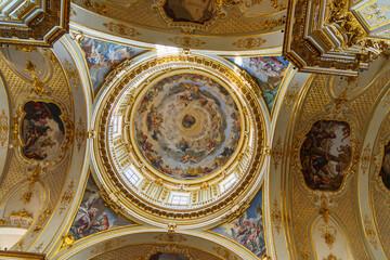 Interior of Bergamo Cathedral or Duomo di Bergamo, Cattedrale di Sant'Alessandro in Upper Town Citta Alta of Bergamo. Italy