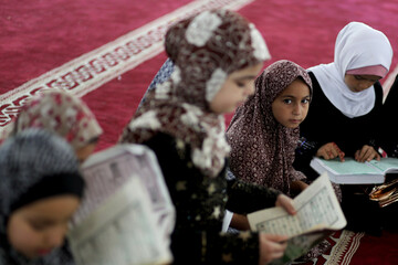 Palestinian children learn Islamic lessons on summer vacation as COVID-19 restrictions ease in Gaza