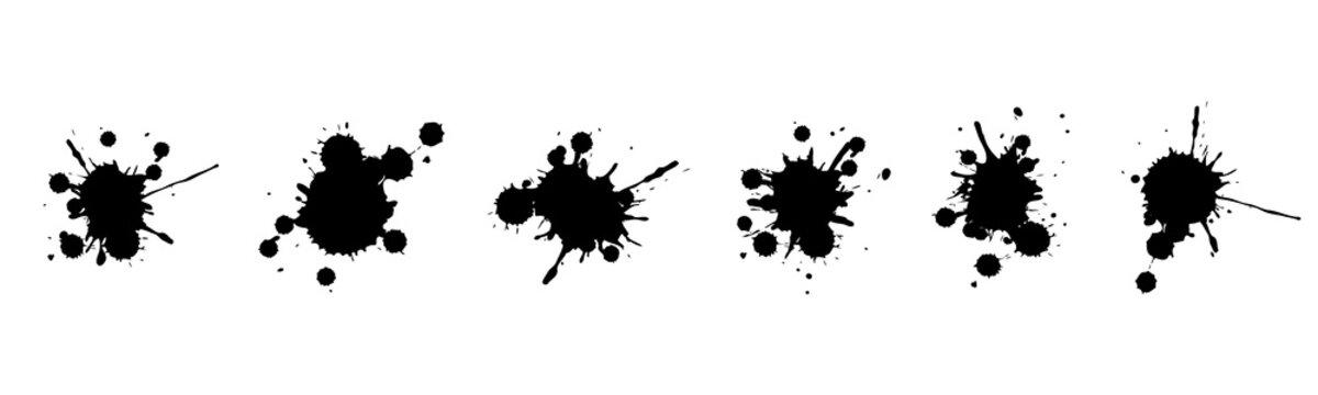 Vector illustration set of ink blots
