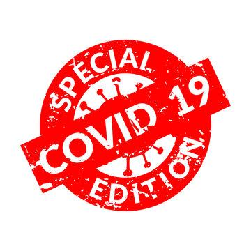 Special edition covid 19 vector seal