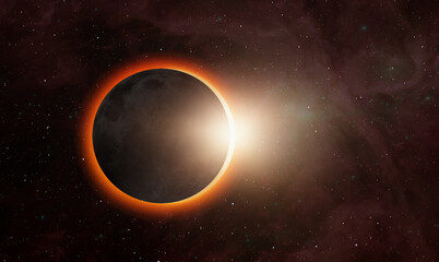 Wall Mural - Ringed solar eclipse