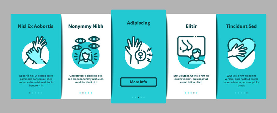 Sexual Harassment Onboarding Mobile App Page Screen Vector. Victim And Woman Sexual Harassment, Molestation And Assault, Violent And Inappropriate Color Illustrations