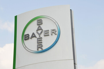 Leverkusen, North Rhine-Westphalia / Germany - May 1, 2009: Headquarters of Bayer AG in Leverkusen, Germany - Bayer is a German multinational pharmaceutical and life science company
