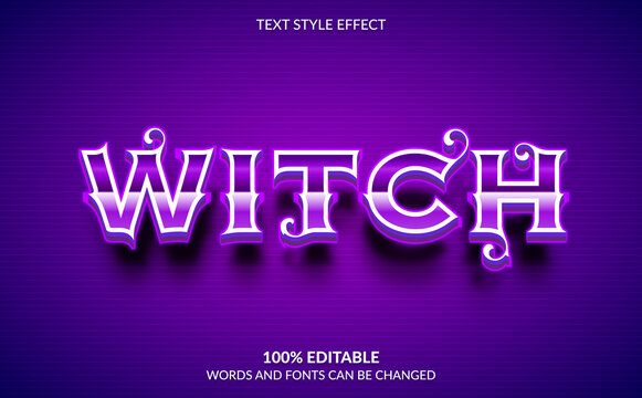 Editable Text Effect, Witch Text Style