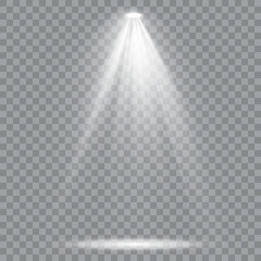 Printed kitchen splashbacks Light, shadow Set of golden spotlight isolated. White Yellow warm lights.