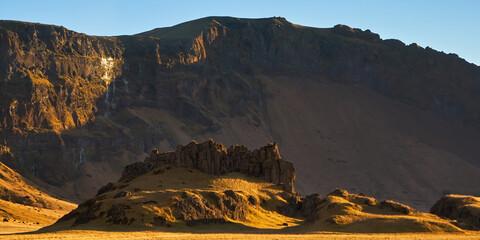 Iceland landscape mountain panorama beautiful islandic nature outdoor