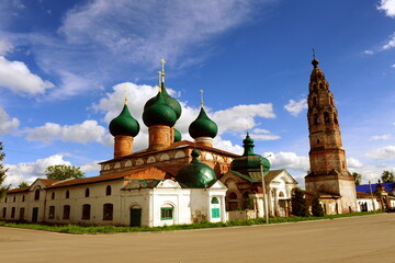 Old churches in Velikoe village, Yaroslavl region, Russia