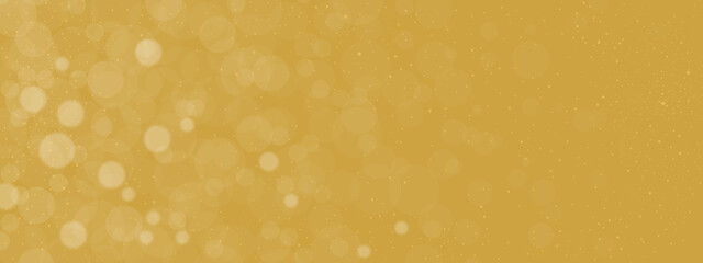 abstract bokeh glitter christmas background with gold background Wall mural