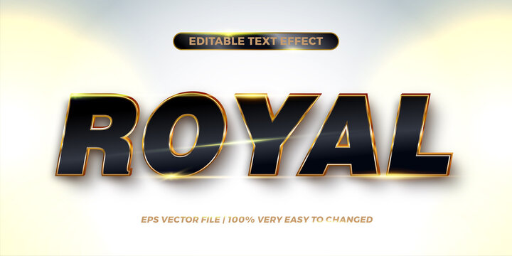 Editable text effect - Royal text style concept