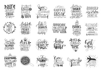 Modern handlettering. Hand drawn typography phrase design.