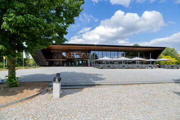 WAREN (MÜRITZ), GERMANY - JUNE 9, 2020: The Müritzeum, a visitor centre and nature discovery centre for the Müritz National Park.