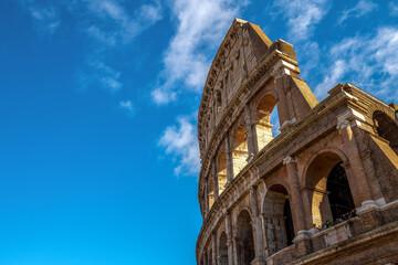 Widok na Coloseum, Rzym, Włochy